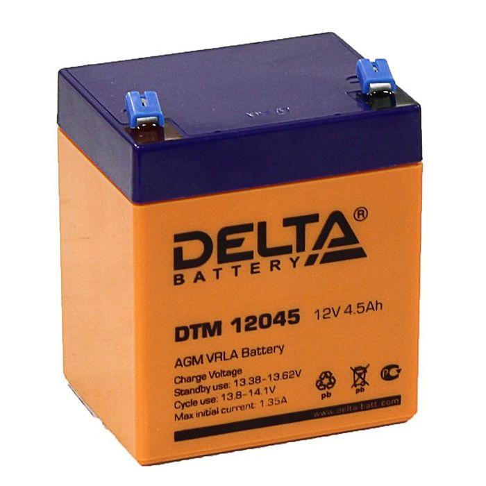 Аккумуляторная батарея Delta 4,5 Ач 12 Вольт DTM 12045