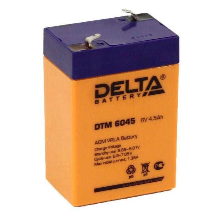 Аккумуляторная батарея Delta 4.5 Ач 6 Вольт DTM 6045