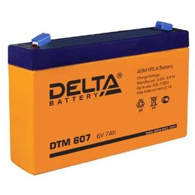 Аккумуляторная батарея Delta 7 Ач 6 Вольт DTM 607 Ош