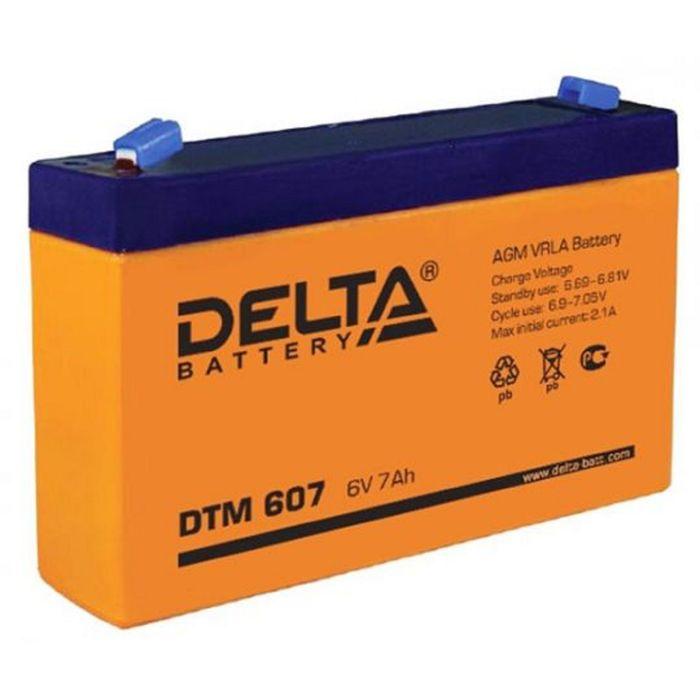 Аккумуляторная батарея Delta 7 Ач 6 Вольт DTM 607