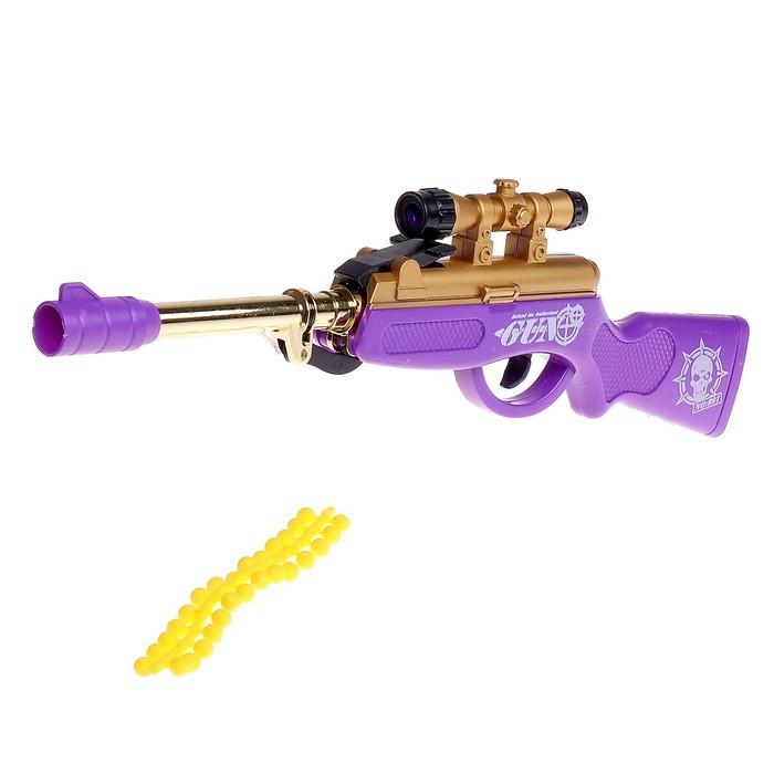 Ружье пневматическое Снайпер, стреляет силиконовыми пулями, цвета МИКС