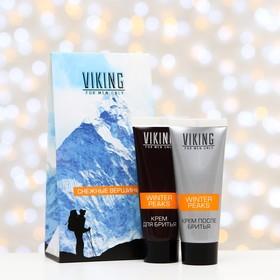 Подарочный набор Viking «Снежные вершины»: крем для бритья, 75 мл + крем после бритья, 75 мл