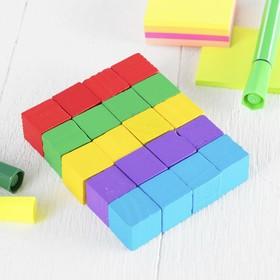 Обучающий материал , набор 20 кубиков, цветные малые Ош