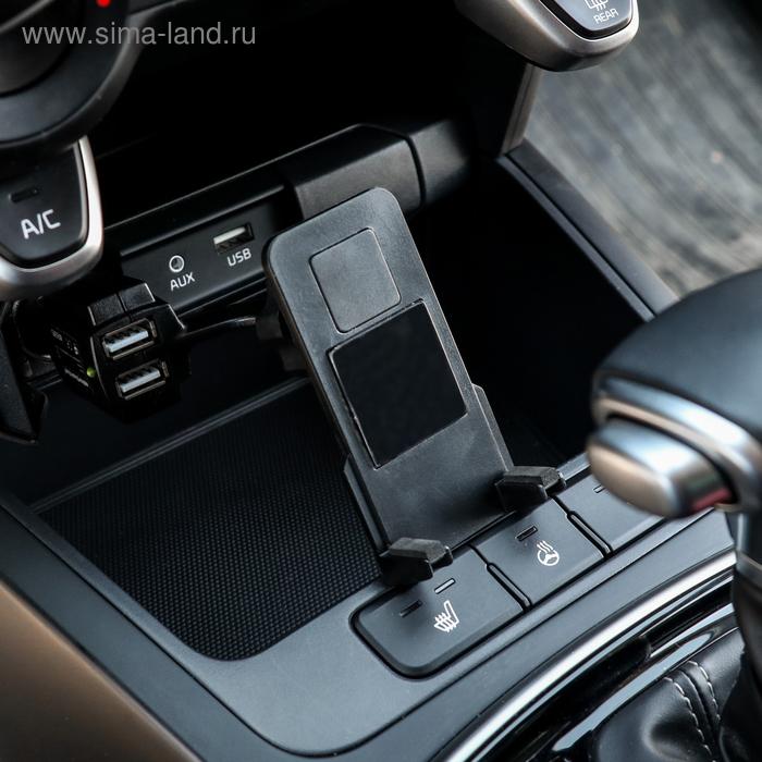 Держатель телефона Sticky Pad, в прикуриватель с 2 USB,  max 2 A, 12 В
