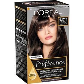 Краска для волос L'Oreal Preference Recital «Париж», тон 4.01, глубокий каштановый