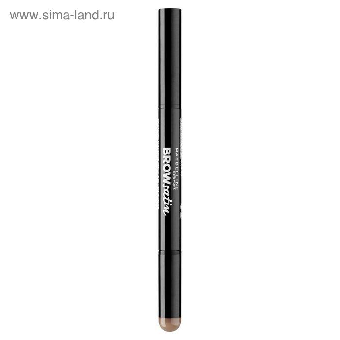 Тени-карандаш для бровей Maybelline Brow Satin, тон 02, коричневый
