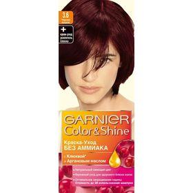 Краска для волос Garnier Color&Shine, без аммиака, тон 3,6, чёрная вишня