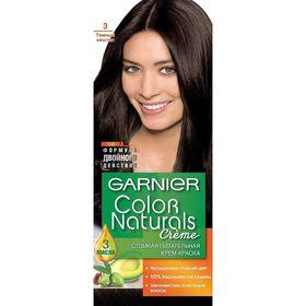 Краска для волос Garnier Color Naturals, тон 3, тёмный каштан