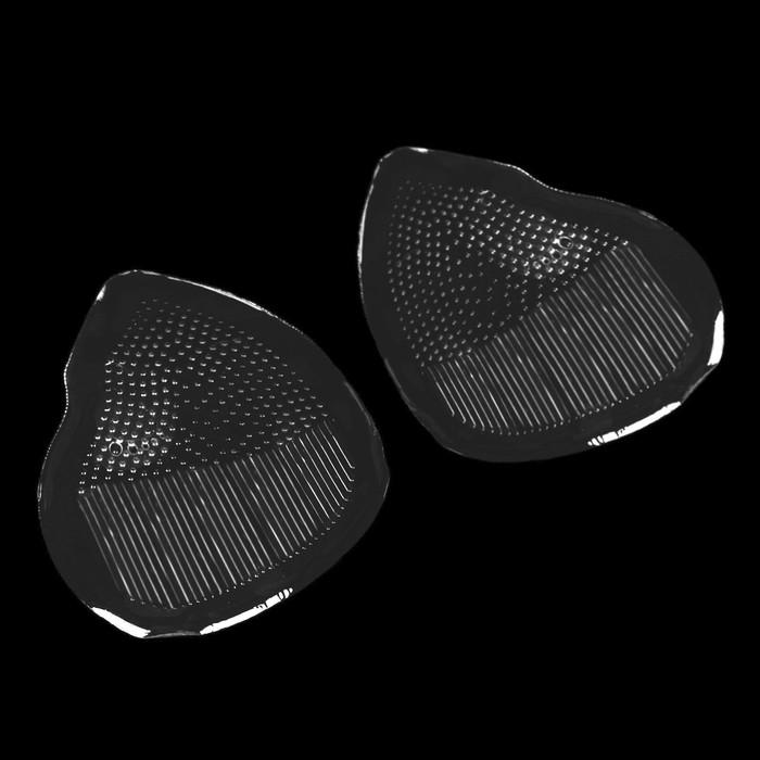 Полустельки для обуви, с протектором, силиконовые, 8,5 × 6,3 см, пара