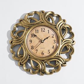 Часы настенные, серия: Интерьер, 'Вереница', бронзовые, d=25 см Ош