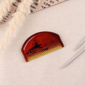 Щётка для удаления катышков, 7,5 × 4,5 × 0,5 см, цвет МИКС