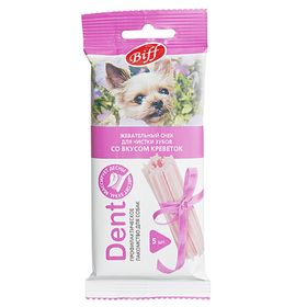 Снек для мелких собак Biff Dent для чистки зубов, креветки, 5 шт Ош