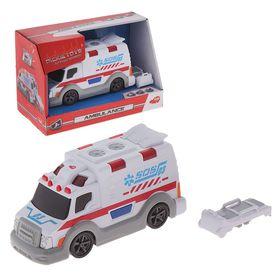 Машина скорой помощи, со светом и звуком, 15 см