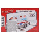 Машина скорой помощи, со светом и звуком, 15 см - Фото 5