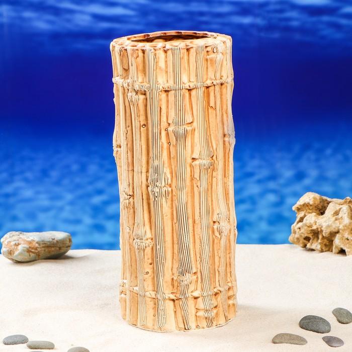 """Декорация для аквариума """"Бамбуковая башня"""", 12 х 12 х 28 см"""