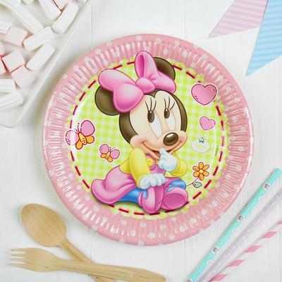 Тарелки бумажные «Малышка Минни», 23 см, набор 8 шт.