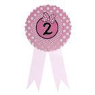 Значок «2», бантик, розовый цвет