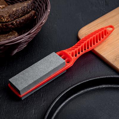 Точилка для металлических ножей с ручкой Доляна, 21,5×4 см, цвет МИКС