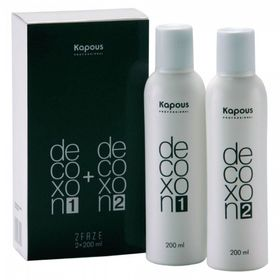 Лосьон для снятия косметического цвета с волос Kapous Decoxon 2 phase(200+200),  400 мл