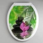 """Сиденье для унитаза с крышкой """"Декор. Орхидея"""", цвет белый"""