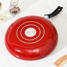 Сковорода Blaze, d=28 см, стеклянная крышка - Фото 3