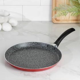Сковорода блинная Blaze, d=25 см, антипригарное покрытие, цвет красный