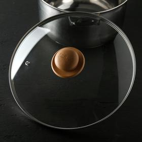 Крышка для сковороды и кастрюли стеклянная, d=28 см, ручка МИКС