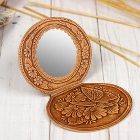 Зеркало на шарнирах, микс, береста Ош