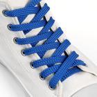 Шнурки для обуви, плоские, 8 мм × 100 см, цвет тёмно-синий