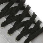 Шнурки для обуви, плоские, 8 мм, 120 см, пара, цвет чёрный