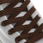 Шнурки для обуви, плоские, 8 мм, 120 см, цвет коричневый