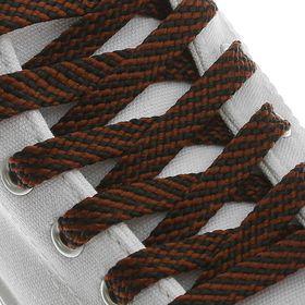Шнурки для обуви, плоские, 8 мм, 120 см, цвет коричневый Ош