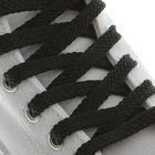 Шнурки для обуви, плоские, 8 мм, 130 см, пара, цвет чёрный