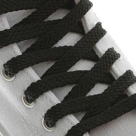 Шнурки для обуви, плоские, 8 мм, 130 см, пара, цвет чёрный Ош