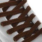 Шнурки для обуви, плоские, 8 мм, 120 см, пара, цвет коричневый