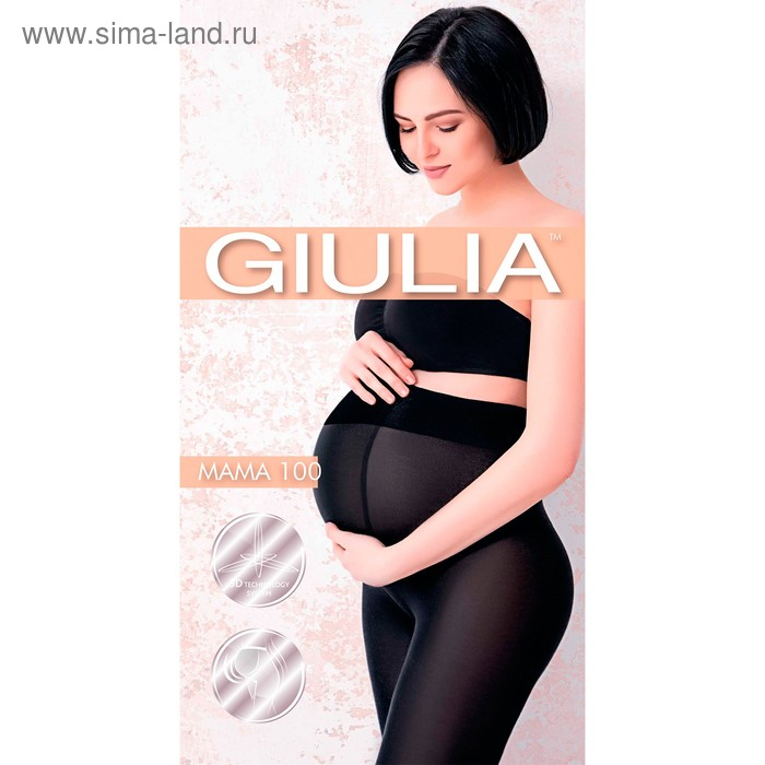 Колготки для беременных GIULIA MAMA 100 den, цвет чёрный (nero), размер 3