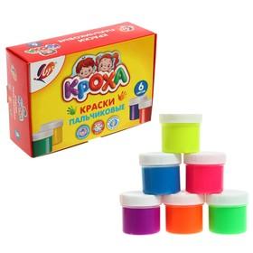 Краски пальчиковые набор 6 цветов по 40 мл Луч Ош