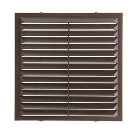 Решетка вентиляционная 'Эковент' 1313 С, 138x138 мм, цвет коричневый Ош