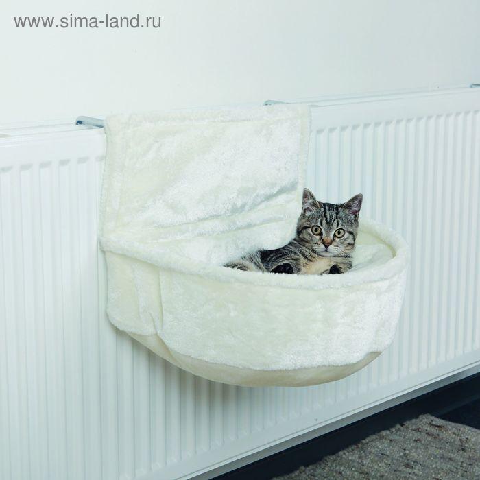 Лежак-гамак Trixie подвесной на радиатор, плюш, 45 × 13 × 33 см, белый