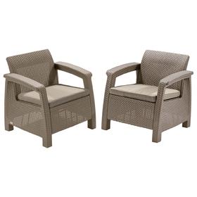 Комплект садовой мебели (2 кресла) Yalta Duo, цвет венге Ош