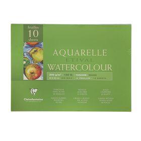 Альбом для акварели грубая техника А3, 300х400 мм, 10 листов на склейке Clairefontaine Etival, 300 г/м², торшон
