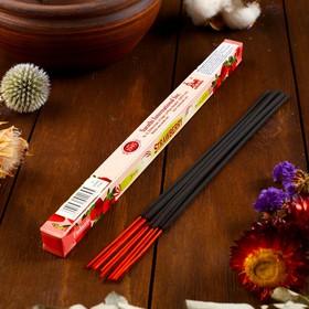 """Благовония Sarathi """"Strawberry. Клубника"""", 8 палочек в упаковке, четырёхгранник"""