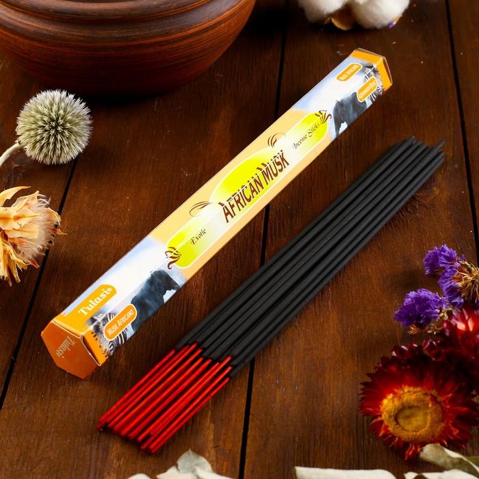"""Благовония Sarathi """"African Musk. Африканский муск"""", 20 палочек в упаковке, шестигранник"""
