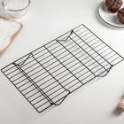 Решётка для остывания выпечки 3-х ярусная, 40,5×25 см, цвет чёрный - Фото 2