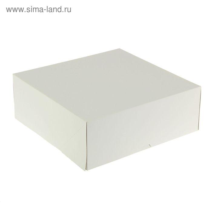 Кондитерская упаковка, короб белый 25,5 х 25,5 х 10,5 см