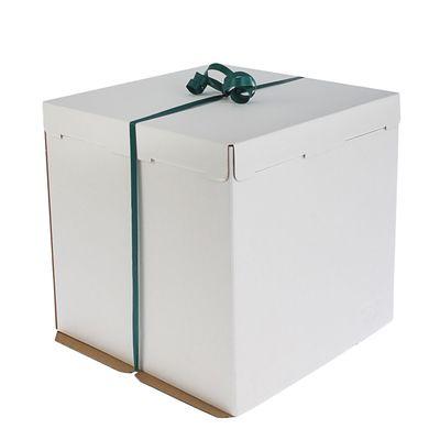 Кондитерская упаковка, короб белый 36 х 36 х 26 см - Фото 1