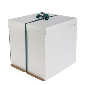 Кондитерская упаковка, короб белый 42 х 42 х 45 см