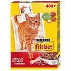 Сухой корм FRISKIES для кошек, мясо/печень/курица, 400 г