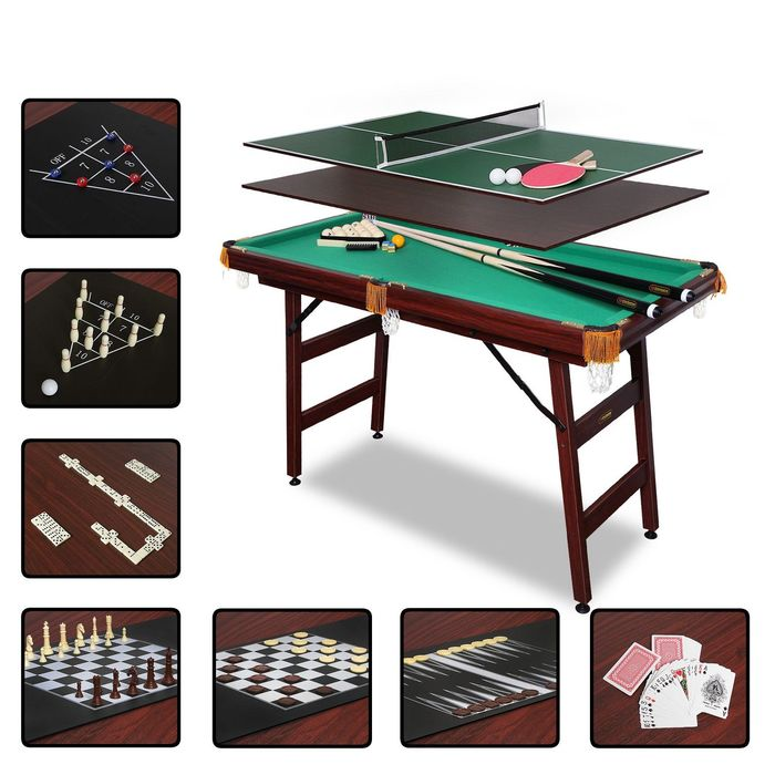 Бильярдный стол Fortuna Пул, 4фт, 9 в 1, с комплектом аксессуаров