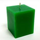 Свеча куб, зелёная, 5х5.7см